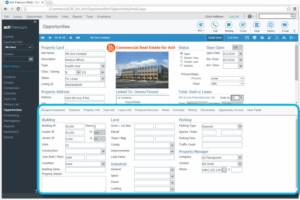 Commercial Real Estate CRM Keeps Specific Property Details
