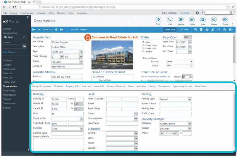 CRM for Commercial Real Estate Keep Specific Property Details