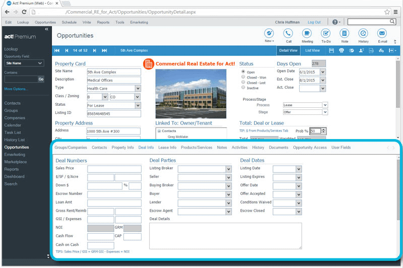CRM for Commercial Real Estate Property Deal Tracking
