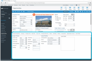 Commercial Real Estate CRM Property Lease Tracking