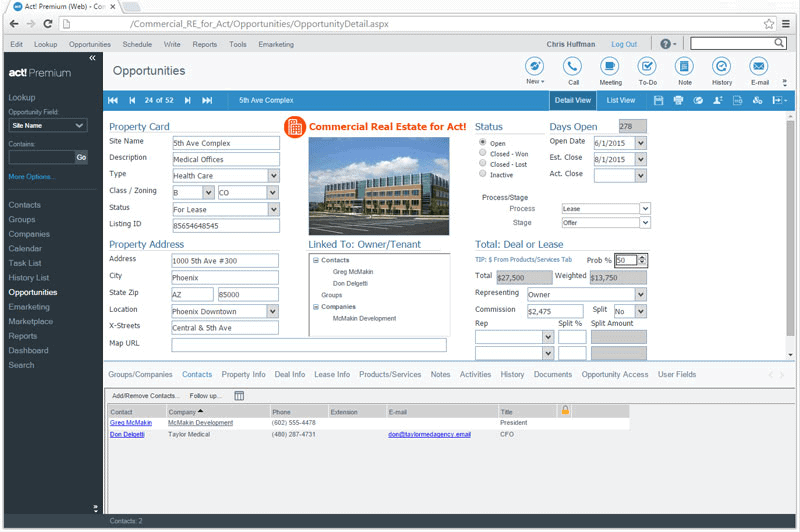 CRM for Commercial Real Estate Tracks Property Inventory and Transactions