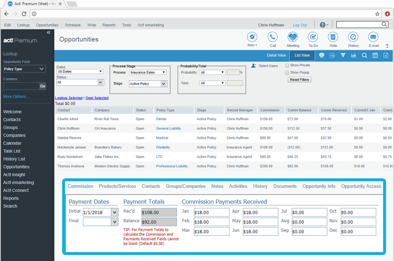 CRM for Insurance Agents Commission Tracking