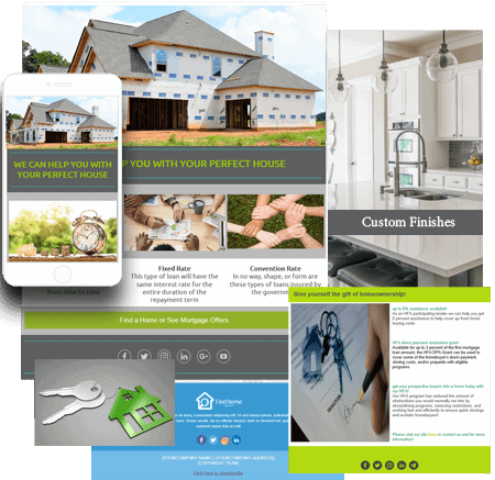 Home Builder Email Marketing Templates