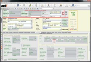 Act! Link for Sage 100 Accounting - DataPlus - Financial Info Tab