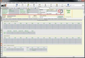 Act! Link for Sage 100 Accounting - DataPlus Financial History Tab