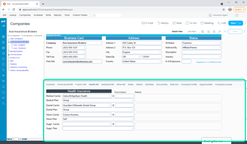 Insurance CRM Tracks Employer or Organization Participation