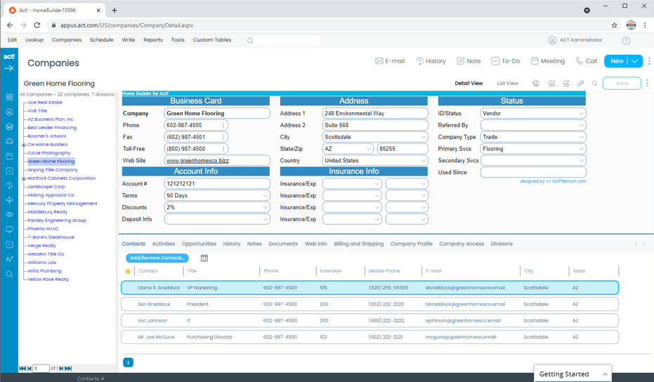 Home Builder CRM Tracks Subscontractors and Suppliers