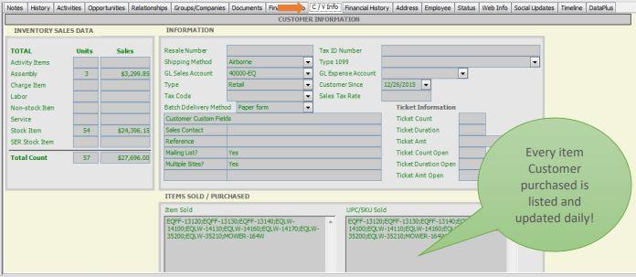 Sage 50 Customer/Vendor Information in Act Premium
