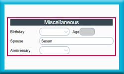 Free Act Database Calculates Age and Keeps an Anniversary Date