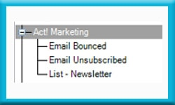 Free Act Database Track Newsletter List and Marketing Results